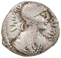 Rabbel II, A. D. 70 - 106. Silver drachm with portrait of Rabbell II and