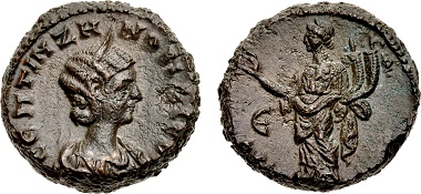 Lot 245: Egypt, Alexandria. Zenobia. Usurper, AD 268-272. Potin Tetradrachm, dated RY 5 of Vaballathus (AD 272). Ex Dattari Collection. Sold for $28,800.