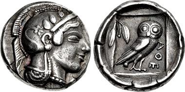 Lot 419: Attica, Athens. Didrachm, circa 475-465 BC. Ex Harald Salvesen Collection. Sold for $90,000.