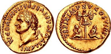 Lot 739: Titus, AD 79-81. Aureus, Rome mint, struck 1 January-30 June AD 80. Sold for $144,000.