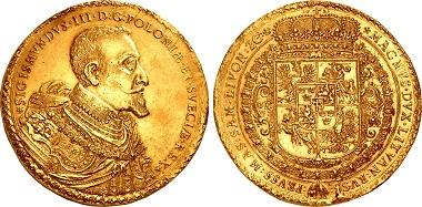 Lot 1127: Poland, Monarchy. Zygmunt III Wasa, 1587-1632. 100 Dukat, Bydgoszcz (Bromberg) mint, 1621. Jacob Jacobson van Emden, mintmaster, and Samuel Ammon, engraver. Ex Kroisos Collection. Sold for $2,160,000.