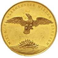 Los 104: Hamburg. Goldmedaille 1842, auf den großen Brand. Fast vorzüglich, Unikum.