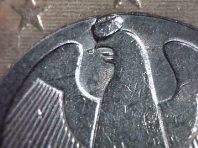 Stempelausbruch: 1-Euro 2002 A. Schätzung: 5 Euro.