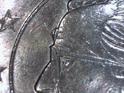 Beule am Kopf durch Stempelausbruch: Belgien 20-Cent 2007. Schätzung: 5 Euro.