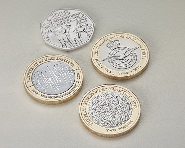 Commemorative BU coins.