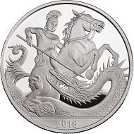 United Kingdom / 5 GBP / Cupro-nickel / 28.28g / 38.61mm / Design: Jody Clark.