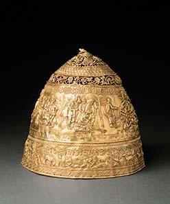 Goldtiara des Skythenkönigs Saitapharnes (3. Jh. v. Chr.). Fälschung des späten 19. Jh. Musée du Louvre, Paris - Quelle: RMN (H. Lewandowski).
