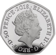 United Kingdom / 50 Pence / Cupro-nickel / 8.00g / 27.30mm / Design: Jody Clark (obverse) and Stephen Taylor (reverse).