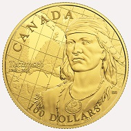 Canada / 100 USD / 14-karat gold / 12g / 27mm / Mintage: 1,500.