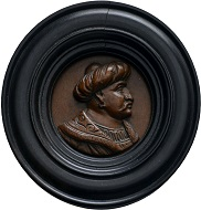 "Nr. 2260: Varia. Kunstkammerstücke. Renaissance-Holzmedaillon Süleyman I. ""der Prächtige"". Ausruf: 2.500,- Euro."