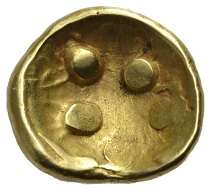 "Lot 530: Southern Germany. Vindelici. Gold stater ""rainbow cup"". Estimate: 1,500 euros."