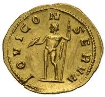 Los 967: Römische Kaiserzeit. Gallienus, 253-268. Aureus, 254-256 Rom. Regierung mit Valerianus I. Schätzpreis 2.000,- Euro.