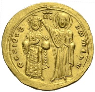 Los 1278: Byzanz. Romanos III. Argyros, 1028-1034. Histamenon auf breitem Schrötling. Schätzpreis 1.000,- Euro.