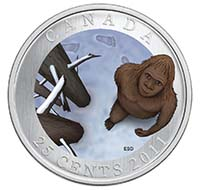 Canada - 0.25 CAD - nickel plated steel - 12.61 g - 35 mm - Design: Emily S. Damstra (reverse), Susanna Blunt (obverse) - Mintage: While Supplies last.