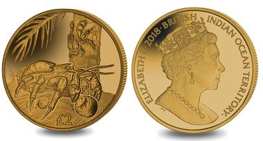 British Indian Ocean Territory / 2 Pounds / Titanium / 10g / 36.1mm / Mintage: 7,500.