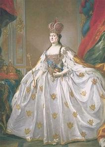 Das Krönungsbild von Katharina II. Gemälde von Stefano Torelli.
