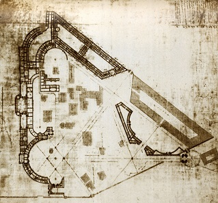 Plan zum Umbau des Kreml aus der Feder von Baschenow.