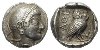 Lot 41: Attica. Athens. Tetradrachm, ca. 500-490 BC.