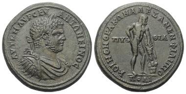 Lot 107: Thrace. Roman Province. Philippopolis. Caracalla, 197-217 AD. Bronze medaillon.