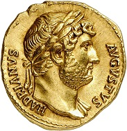 Nr. 1147: Hadrian, 117-138. Aureus, 125-128. From MoneyMuseum Zurich collection. FDC. Estimate: 30,000 Euro.