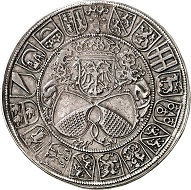 Nr. 2401: Zurich (Switzerland). Guldiner 1512. Very rare. Small collector's mark. Extremely fine. Estimate: 7,500 Euro.