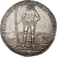Nr. 3337: Brunswick-Lüneburg. Christian Ludwig, 1648-1665. Löser of the weight of 3 reichstalers 1665, Zellerfeld. Yield from the mines of the Harz mountains. From Hermann Brede collection. From Galerie des Monnaies auction 7 (1972), No. 1501. Very rare. Extremely fine. Estimate: 5,000 Euro.