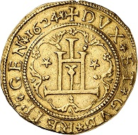Nr. 5206: Genoa, Republic. 10 scudi 1624. Probably the only specimen on the market. Slightly clipped. Very fine. Estimate: 100,000 Euro.