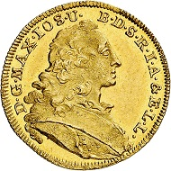 Nr. 5904: Bavaria. Maximilian III Joseph, 1745-1777. Ducat 1756, Munich. Gold from the Inn river. Very rare. Extremely fine. Estimate: 10,000 Euro.