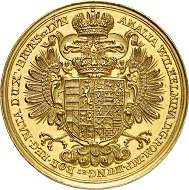 Nr. 6036: Brunswick-Calenberg-Hanover. George I Ludwig, 1698-1714. Gold medal of the weight of 24 ducats n. y. (after 1705), by J. G. Seidlitz. Only few specimens known. Extremely fine. Estimate: 25,000 Euro.