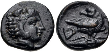 Lot 57: Macedon, Local Dynasts. Philotas, circa 400-380 BC. Very rare, only 19 specimens known to Wartenberg. Estimate: 300 USD.