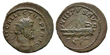 273: Allectus, 293-296. Antoninianus, Londinium. Nearly extremely fine. Estimated: 60 euros.