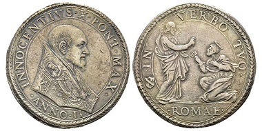 453: Innocent X, 1644-1655. Very fine. Estimated: 500 euros.
