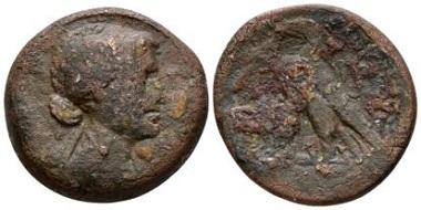 Lot 162: Ptolemäer. Cleopatra VII Thea Neotera. Diobol-80 Drachmae circa 51-30. Alexandria. VF - / F +. Starting Bid: 120 GBP.