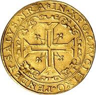 Los 7: Brandenburg-Preußen. Joachim II., 1535-1571. Portugalöser zu 10 Dukaten 1570, Berlin. Äußerst selten. Sehr schön. Taxe: 200.000 Euro. Zuschlag: 180.000 Euro.