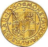 8: Brandenburg-Preußen. Joachim II., 1535-1571. Dukat 1560, Berlin. Fast vorzüglich. Taxe: 60.000 Euro. Zuschlag: 100.000 Euro.
