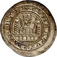 502: Mühlhausen. Conrad III, 1138-1152. Bracteate. Extremely rare. Almost FDC. Estimate: 25,000 euros. Hammer price: 36,000 euros.