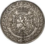 1271: Holy Roman Empire. Ferdinand III., 1625-1637-1657. Sixfold reichstaler 1629, Prague. Extremely fine. Estimate: 20,000 euros. Hammer price: 110,000 euros.