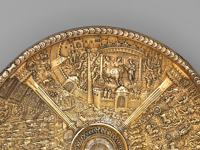 Titus visiting Egypt (detail from the Titus dish), c.1587 - c.1599; Netherlands?; silver gilt; Museu Nacional de Arte Antiga, Lisbon; acc. no. 11.2018. Photo: © The Metropolitan Museum of Art.
