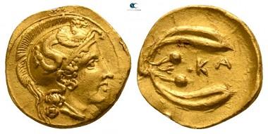 Lot 20: Sicily. Kamarina. Diobol, circa 405 BC. Good very fine.