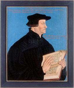 Herrenporträt Ulrich Zwingli, Hans Asper, 1549, Zürich. Öl auf Holz. © Zentralbibliothek Zürich.
