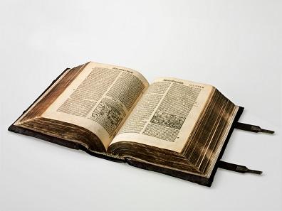 Zürcher Bibel, 2. Auflage, Drucker: Christoph Froschauer, 1536, Zürich. Buchdruck auf Papier. © Schweizerisches Nationalmuseum.