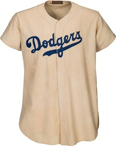 "1947 Jackie Robinson Game Worn Brooklyn Dodgers Rookie ""Color Barrier"" Jersey. Sold online for USD 2 million."