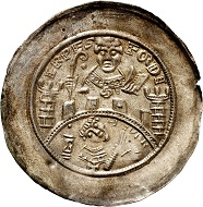 Heinrich I. von Harburg, 1142-1153. Brakteat, Erfurt. Vorzüglich. Taxe: 500,- Euro. Aus Auktion Künker 305 (21. März 2018), Nr. 3754.