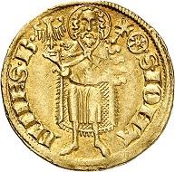 Gerlach von Nassau, 1354-1371. Goldgulden o. J. (1360-1365), Eltville. Selten. Sehr schön. Taxe: 1.000,- Euro. Aus Auktion Künker 305 (21. März 2018), Nr. 3759.