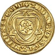 Adolph I. von Nassau, 1373-1390. Goldgulden o. J. (1379/80), Bingen. Sehr schön. Taxe: 400,- Euro. Aus Auktion Künker 305 (21. März 2018), Nr. 3761.