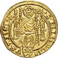 Adolph I. von Nassau, 1373-1390. Gold gulden without date (1379/80), Bingen. Very fine. Estimate: 400,- euros. From Künker auction 305 (21 March 2018), No. 3761.