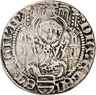Dietrich II. von Isenburg zu Büdingen, 1. Herrschaft 1459-1462. Weißpfennig (Groschen) o. J. (1461/2), Mainz. Sehr schön. Taxe: 100,- Euro. Aus Auktion Künker 305 (21. März 2018), Nr. 3785.