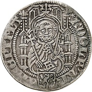 Adolph II. von Nassau, 1461- 1475. Weißpfennig (Groschen), o. J. (nach 1464), Mainz. Gutes sehr schön. Taxe: 100,- Euro Aus Auktion Künker 305 (21. März 2018), Nr. 3786.