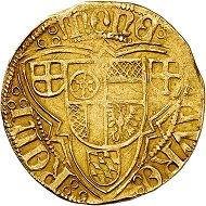 Albrecht II. von Brandenburg, 1514-1545. Gold gulden without date, Mainz. Very fine. Estimate: 750,- euros. From Künker auction 305 (21 March 2018), No. 3792.