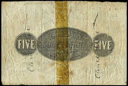 Lot 464: World Banknotes, London & South African Bank, Five Pounds, 4 February 1871, Port Elizabeth, no. 08668, printed by William Brown & Co, London, signature crossed through, 'Cancelled' written on back (Hern 229; Pick S106a). Split and rejoined at centre, pinholes and some short splits mostly around centre, otherwise good fine or better, rare; the first Imperial Bank to issue in South Africa. GBP 900-1,200